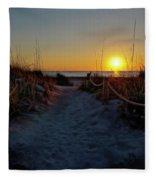 Path To Beach Fleece Blanket