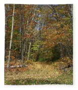 Path To Joiner Brook Fleece Blanket