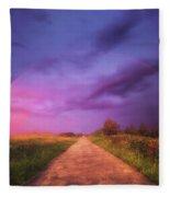 path to Phantasiland Fleece Blanket