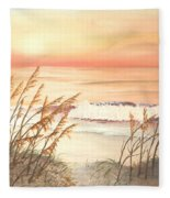 Path To Sunlit Waters Fleece Blanket