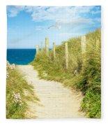 Path To The Ocean Fleece Blanket