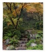 Pathway Into Fall Fleece Blanket
