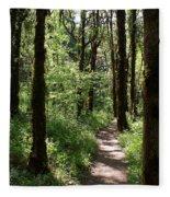 Pathway Through The Woods Fleece Blanket