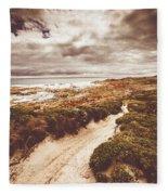 Pathways To Seaside Paradise Fleece Blanket