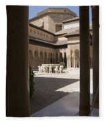 Patio De Los Leones Nasrid Palaces Alhambra Granada Fleece Blanket