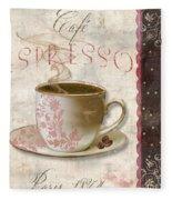 Patisserie Cafe Espresso Fleece Blanket