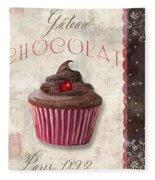 Patisserie Chocolate Cupcake Fleece Blanket