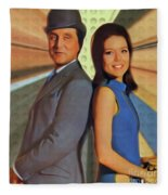 Patrick Macnee And Diana Rigg, The Avengers Fleece Blanket
