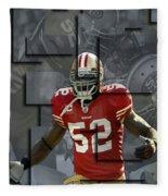 Patrick Willis San Francisco 49ers Blocks Fleece Blanket
