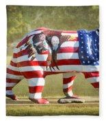 Patriot Bear Fleece Blanket