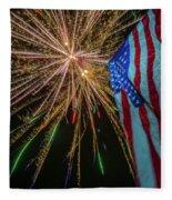Patriotic Fireworks Fleece Blanket