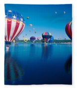 Patriotic Hot Air Balloon Fleece Blanket
