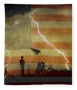 Patriotic Operation Desert Storm Fleece Blanket