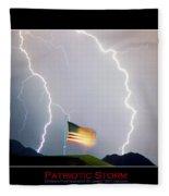 Patriotic Storm - Poster Print Fleece Blanket