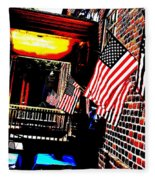 Patriotic Tavern Fleece Blanket