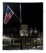 Patriotism In A Small Town Fleece Blanket