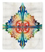 Pattern Art - Color Fusion Design 1 By Sharon Cummings Fleece Blanket