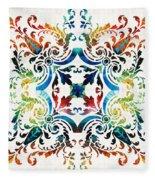 Pattern Art - Color Fusion Design 7 By Sharon Cummings Fleece Blanket