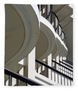 Patterned Balconies Fleece Blanket