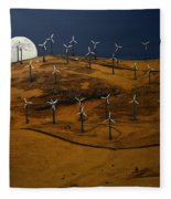 Patterson Pass Wind Farm Fleece Blanket