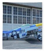 Paul 1 P-51d Mustang Fleece Blanket