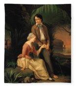 Paul And Virginie Fleece Blanket