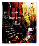 Paul Auster Poster Brooklyn  Fleece Blanket