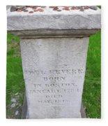 Paul Revere Grave  Fleece Blanket