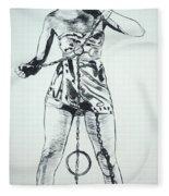 Paula Captive Wild Woman Fleece Blanket