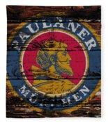 Paulaner Beer Sign  Fleece Blanket