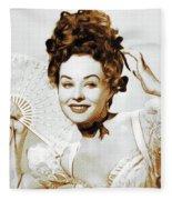 Paulette Goddard, Hollywood Legend Fleece Blanket