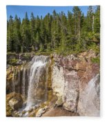 Paulina Creek Falls From The Top Fleece Blanket