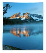 Paulina Peak In Paulina Lake Fleece Blanket