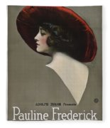 Pauline Frederick In Paid In Full 1919 Fleece Blanket