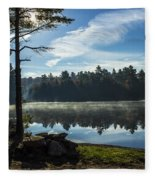 Pauper Lake Morning Fleece Blanket