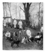 Pavlovs Dogs With Their Keepers, 1904 Fleece Blanket