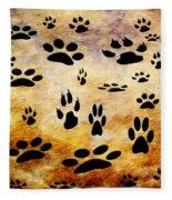 Paw Prints Fleece Blanket