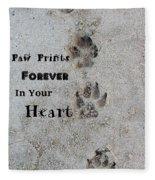 Paw Prints Forever In Your Heart Fleece Blanket