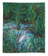 Pawleys Island Egret Fleece Blanket