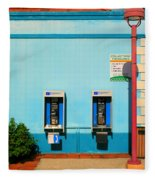 Pay Phones Fleece Blanket
