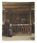 Payday, The Ships Room Right House Nieuw-loosdrecht, Furnished With Seventeenth-century Figures, Joh Fleece Blanket