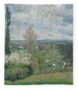 Paysage D'ile De France By Armand Guillaumin Fleece Blanket