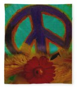Peace Every Day Fleece Blanket