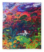 Peace Frog Fleece Blanket