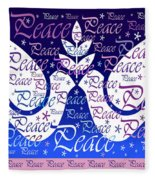Peace Holiday Card Fleece Blanket