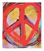 Peace Love  Art Fleece Blanket