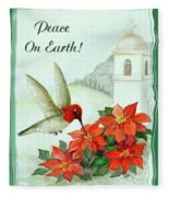 Peace On Earth Fleece Blanket