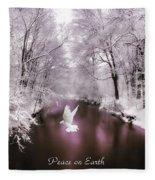 Peace On Earth With Text Fleece Blanket