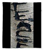 Peace Written In The Trees 4 Fleece Blanket