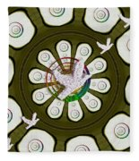 Peacedoves Bringing Peace To The Earth Fleece Blanket